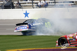Jimmie Johnson spins