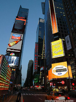Early morning on Times Square