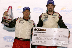 GT podium: class winners Bill Auberlen, Boris Said
