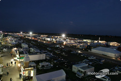 Sebring paddock before night practice