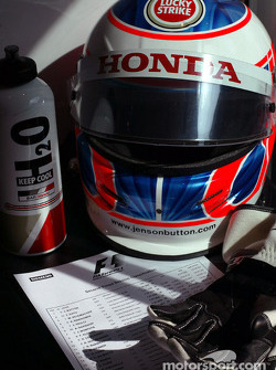 Jenson Button's helmet