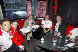 Jean Todt and Luca di Montezemelo with Bridgetstone representatives