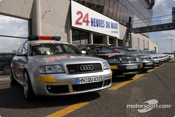 The Audi saety cars for the 2004 edition of the 24 Hours of Le Mans