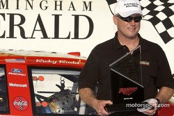 Ricky Rudd celebrates pole position