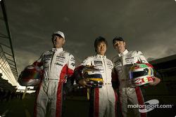Rinaldo Capello, Seiji Ara and Tom Kristensen