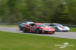 #11 JMB Racing USA Ferrari 360GT: Iradj Alexander, Edi Gay, Maurizio Mediani, and #59 Brumos Racing Porsche Fabcar: Hurley Haywood, J.C. France, Lucas Luhr
