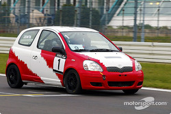 Ricardo Zonta drives a Yaris Cup car around the Nürburgring circuit