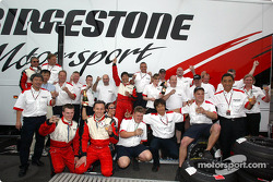 Bridgestone team members celebrate