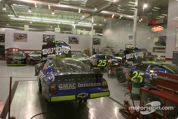 Visit of Hendrick Motorsports: another shop