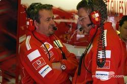 Nigel Stepney and Ross Brawn
