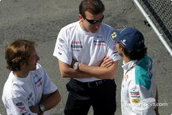 Cristiano da Matta, Olivier Panis and Felipe Massa
