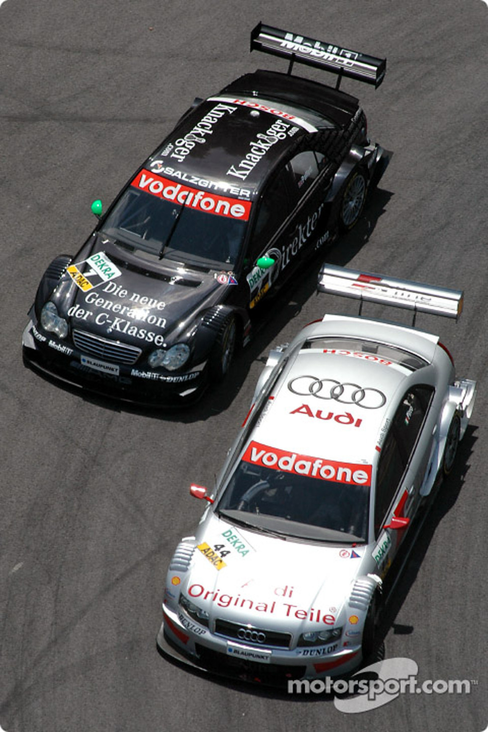 Emanuele Pirro and Gary Paffett