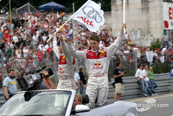 Drivers parade: Mattias Ekström and Martin Tomczyk