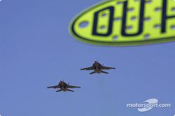 F/A-18 Hornet fly over
