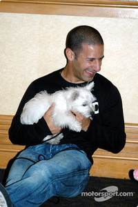 Tony Kanaan with his dog Lucky