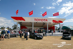The Toyota merchandise booth at the Goodwood Festival of Speed