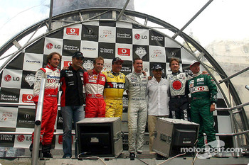 Participating drivers: Cristiano da Matta, Zsolt Baumgartner, Luca Badoer, Nigel Mansell, David Coulthard, Juan Pablo Montoya, Jenson Button and Martin Brundle