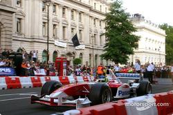 Cristiano da Matta in action during the F1 Parade