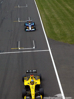 Nick Heidfeld and Giancarlo Fisichella