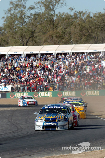 Mark Winterbottom was one of many that were sporting damage