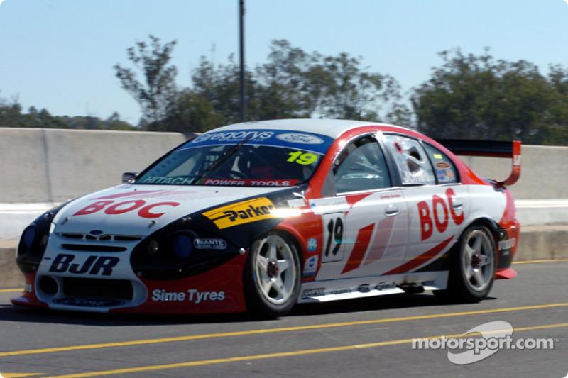 Andrew Jones heads down pit lane