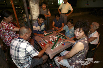 Locals play Mahjong