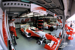 Toyota Racing garage area