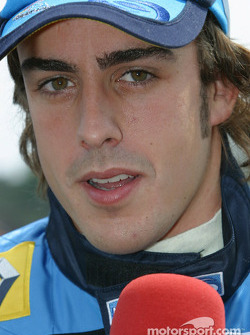 Fernando Alonso on the starting grid