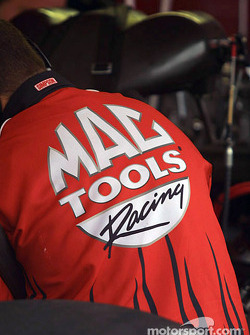 Crew works on Doug Kalitta's Top Fuel dragster