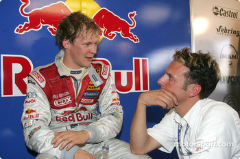 Mattias Ekstrm and race engineer Alex Stehlig