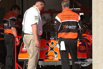 Team Cingular put the Chevy through inspection