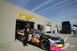 Scott Pruett #09 Dodge at technical inspection
