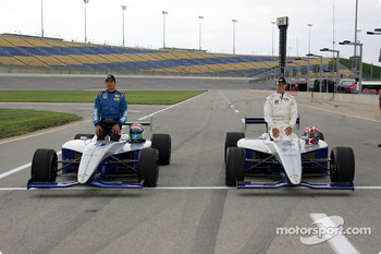 Front row: pole winner Travis Gregg with Thiago Medeiros