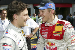 Gary Paffett and Mattias Ekström