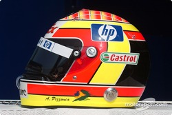 Helmet of Antonio Pizzonia