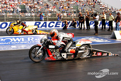 K&N Pro Bike Klash semifinal: Antron Brown and Andrew Hines