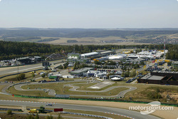Aerial view of Brno during qualifying session