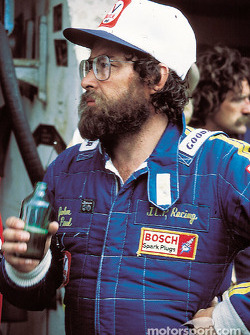 John Paul enjoys a beer after the race