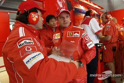 Rubens Barrichello and Gabrile delli Colli