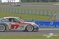 #57 Stevenson Motorsports / Auto Assets Porsche GT3 RS: Chip Vance, John Stevenson, #04 Grease Monkey Racing Porsche GT3 Cup: Gene Sigal