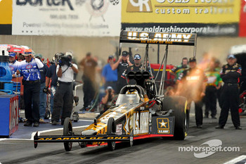 Tony Schumacher launching