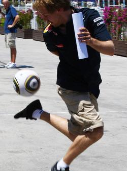 Sebastian Vettel, Red Bull Racing with a football