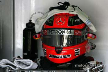 Helmet of Michael Schumacher, Mercedes GP