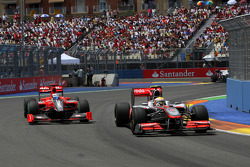 Timo Glock, Virgin Racing, Lewis Hamilton, McLaren Mercedes