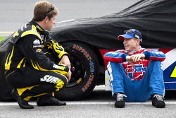 Carl Edwards, Roush Fenway Racing Ford and Mark Martin, Hendrick Motorsports Chevrolet