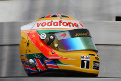 The new helmet of Lewis Hamilton, McLaren Mercedes