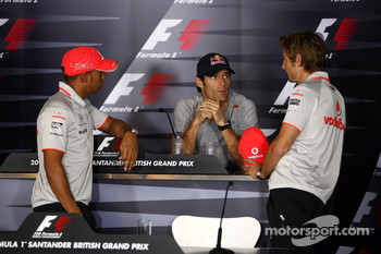 Lewis Hamilton, McLaren Mercedes, Mark Webber, Red Bull Racing, Jenson Button, McLaren Mercedes