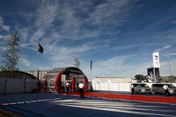 The Silverstone paddock