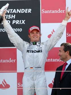 Podium: third place Nico Rosberg, Mercedes GP