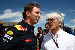 Christian Horner, Red Bull Racing, Sporting Director and Bernie Ecclestone